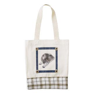 Keeshond Zazzle HEART Tote Bag