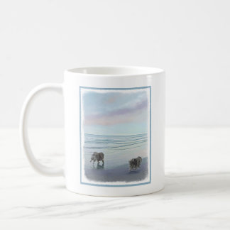 Keeshonds at the Seashore Coffee Mug
