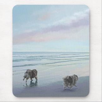 Keeshonds at the Seashore Mouse Pad