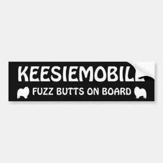 Keesiemobile Fuzz Butts Car Bumper Sticker