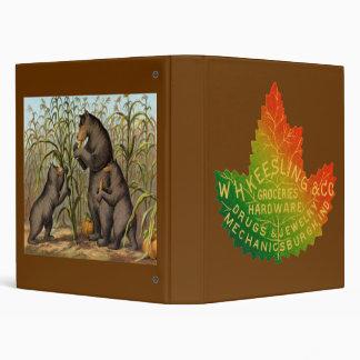 Keesling Leaf Ad & Bears 3 Ring Binder