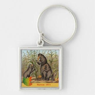 Keesling Leaf & Bear Harvest Ad Keychain