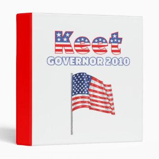 Keet Patriotic American Flag 2010 Elections Binder