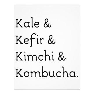 Kéfir Kimchi Kombucha de la col rizada Membretes Personalizados