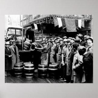 KEG BEER is DELIVERED as PROHIBITION ENDS 1933 Poster