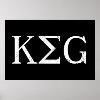 keg letters drinking tshirt poster