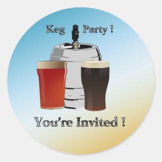 Keg Party Invitation envelope seal
