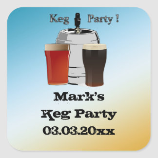 Keg Party Invitation Favor stickers