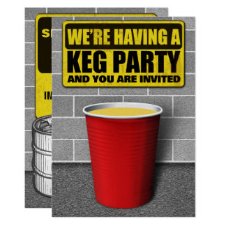 Keg Party Invitations