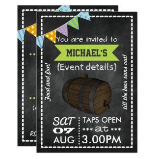 Keg Party Personalized Retro Chalkboard Invitation
