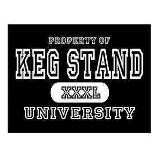 Keg Stand Dark Postcard