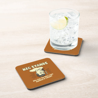 Keg Stands: Don't Learn College Beverage Coasters