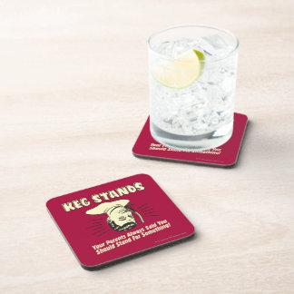 Keg Stands: Parents Stand Something Drink Coaster