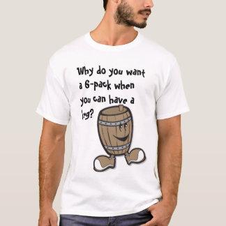 Kegger vs 6 Pack T-Shirt