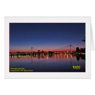 Kehl a la rin postal tarjeta de felicitación