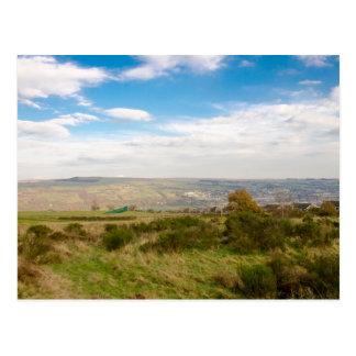 Keighley landscape postcard