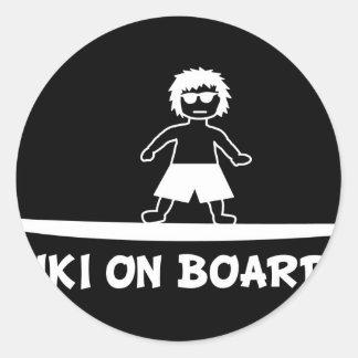 Keiki On Board JPG Round Sticker