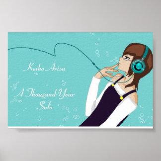Keiko Arisu: A Thousand Year Solo Poster