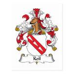 Keil Family Crest Postcards