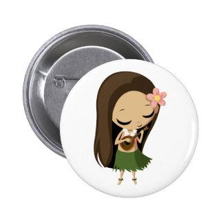 Keilana el chica de Hula Pin Redondo De 2 Pulgadas