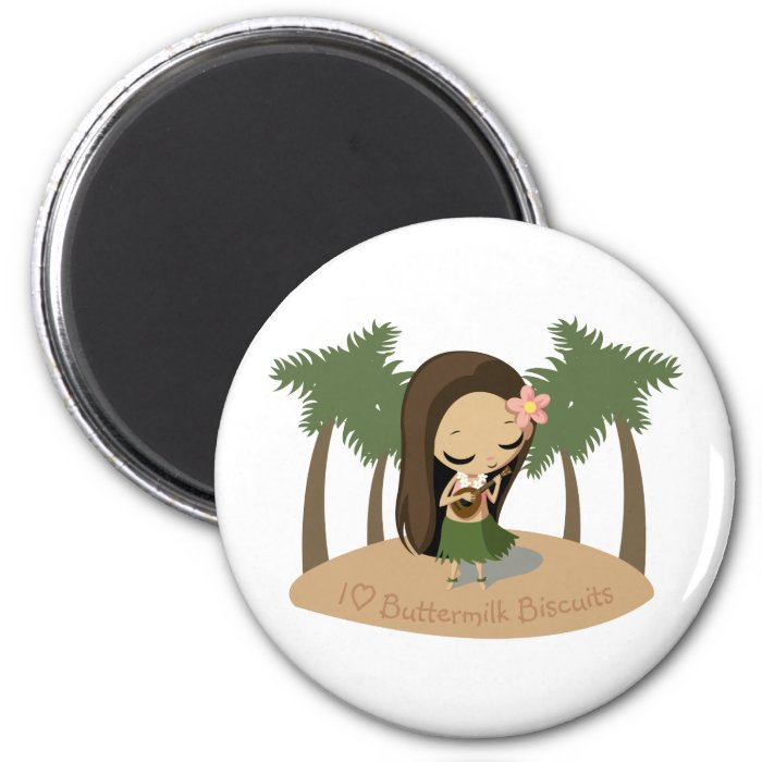 Keilana the Hula Girl 2 Inch Round Magnet