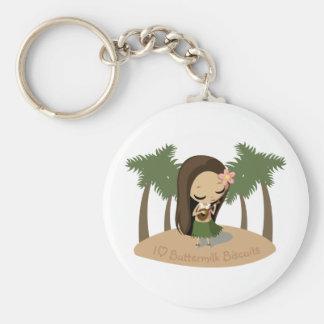 Keilana the Hula Girl Basic Round Button Keychain