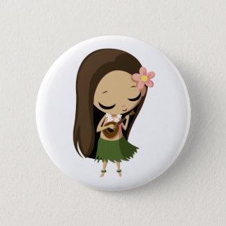 Keilana the Hula Girl Button