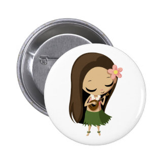 Keilana the Hula Girl Button