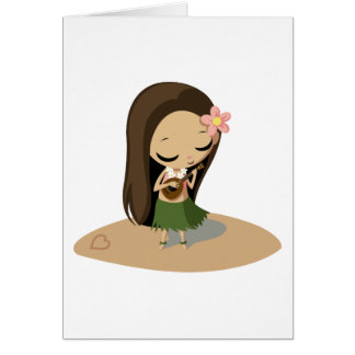 Keilana the Hula Girl Card
