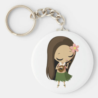 Keilana the Hula Girl Keychain
