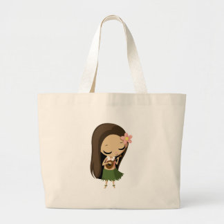 Keilana the Hula Girl Large Tote Bag