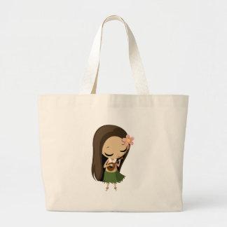 Keilana the Hula Girl Large Tote Bag
