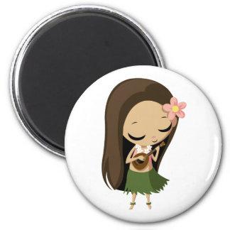Keilana the Hula Girl Magnets