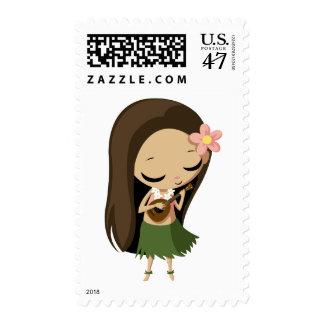 Keilana the Hula Girl Postage Stamp