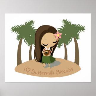 Keilana the Hula Girl Poster