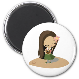 Keilana the Hula Girl Refrigerator Magnet