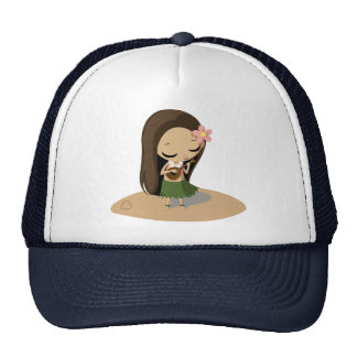 Keilana the Hula Girl Trucker Hat
