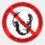 Kein Zutritt für Unbefugte • Der Bundestag Aufkleber