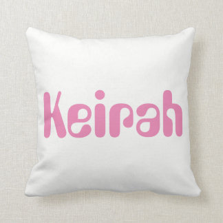 Keirah (or any name you wish) throw pillow