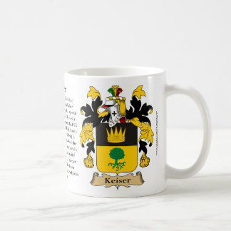 Keiser, the Origin, the Meaning and the Crest Coffee Mug