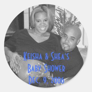KeiShea, Keisha & Shea's Baby Shower Dec. 9, 2006 Round Sticker