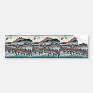 Keishi por Ando, Hiroshige Ukiyoe Pegatina Para Auto