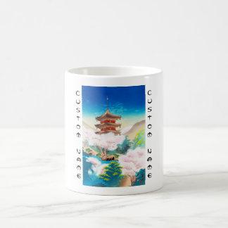 Keisui Pagoda in Spring japanese oriental scenery Coffee Mug