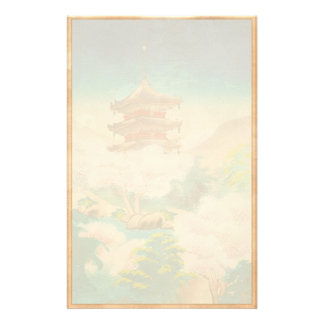 Keisui Pagoda in Spring japanese oriental scenery Stationery