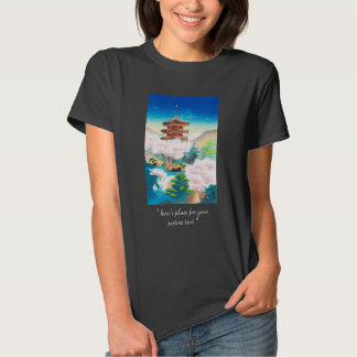 Keisui Pagoda in Spring japanese oriental scenery T Shirt