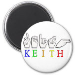 KEITH ASL FINGERSPELLED NAME SIGN 2 INCH ROUND MAGNET