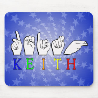 KEITH ASL FINGERSPELLED NAME SIGN MOUSE PAD