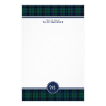 Keith Clan Modern Tartan Monogram Stationery