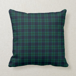 Keith Clan Navy Blue and Forest Green Tartan Throw Pillow
