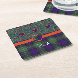 Keith clan Plaid Scottish tartan Square Paper Coaster